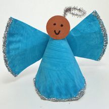 preschool paper crafts   Preschool Crafts for Kids*: Paper Plate Christmas Angel Craft