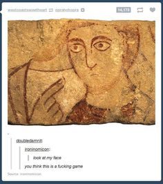 This painting will not be having your shit: | 33 Of The Greatest Things That Happened On Tumblr In 2013