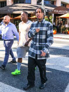 Tyga Photos - Tyga is seen in Los Angeles, California on Nov. - Tyga Goes Shopping In Beverly Hills Fashion Mag, Hip Hop Fashion, Estilo Gangster, Marley Twist Hairstyles, Marley Twists, 90s Hip Hop, Spring Fashion Outfits, Tyga, Hip Hop Artists