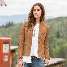 Diamond Ridge Leather Jacket from Sundance Catalog