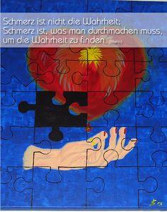 Schmerz ist nicht die Wahrheit; Schmerz ist, was man durchmachen muss, um die Wahrheit zu finden (Merlin) ... http://bit.ly/1qOhGhk