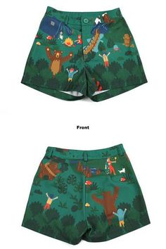 Neverland collection forest summer party blue green floral shorts · PurpleFishBowl · Online Store Powered by Storenvy