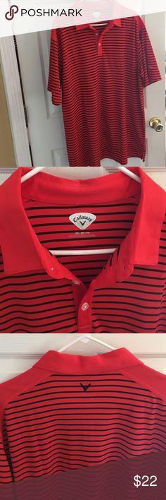 Callaway Golf shirt XXL Callaway XXL golf shirt orange and black stripes like new Callaway Shirts Polos