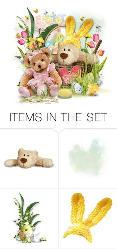 """""""A Beary Lovely Easter ^TAS"""" by rosie305 ❤ liked on Polyvore featuring art and artset"""