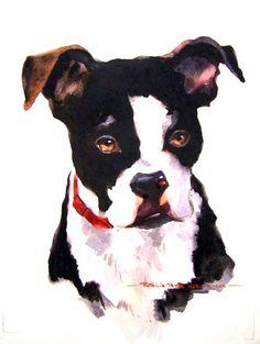 Watercolor Dog Portrait #bulldog #dog #painting #watercolor #dogart #dogpainting