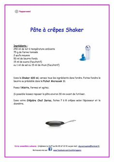 Pâte à crêpes shaker Tupperware Shaker Tupperware, Tupperware Recipes, Beignets, Brunch, Food And Drink, Cooking, Sweets, Disney, Flat Cakes