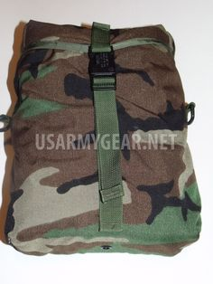 New Woodland Camo MOLLE II Radio Pouch 100/% Nylon MOLLE compatible Made In USA