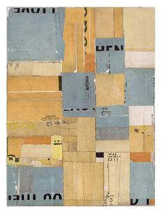 Something to Remember You By by Lisa Hochstein: salvaged paper collage   The Textile Blog