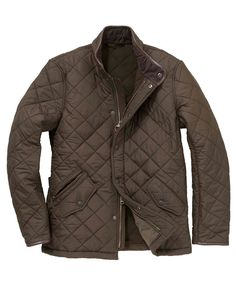 Mens Barbour Powell Quilted Jacket - Olive
