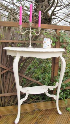 I've kept the colour on this piece simple vintage white, Annie Sloan Old White, as it has so much beautiful detail already. Available now, please go to Facebook, Giddy Goat Hand Painted Furniture for details.