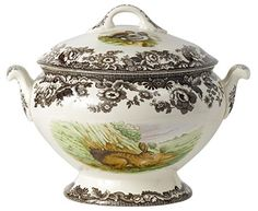 Soup+Tureen+&+Cover(Rabbit/Quail/Pintail)-17+Cups