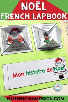 "A French Christmas activity that will keep your students on task, working hard on their French vocabulary for ""Noël"" while having lots of fun! This French lapbook is perfect for kiddos to complete and show off to families/guardians. For French Immersion and Core French classrooms, or for any child learning French as a second language. C'est le lapbook de Noël!"