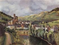 Auvergne;Town Esteng - Zinaida Serebriakova
