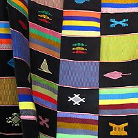 Design detail of Ewe Kente cloth  by master weaver Ahiagble Bob Dennis