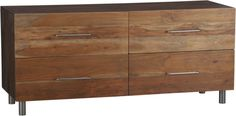 CB2.com Dresser $799. Free free shipping right now. real wood but you have to assemble.  leave off legs, alter door faces to be hinged where sink is, add top (or wrap top around to sides to hide depth) = HALL BATH VANITY