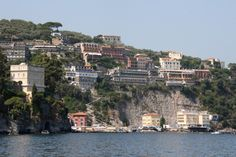 A view of Sorrento from the ferry