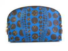 """#LouisVuitton Pochette Cosmetic Pouch """"YAYOI KUSAMA""""  M47345 (BF067645). Authenticity guaranteed, free shipping worldwide & 14 days return policy. Shop more #preloved brand items at #eLADY: http://global.elady.com"""
