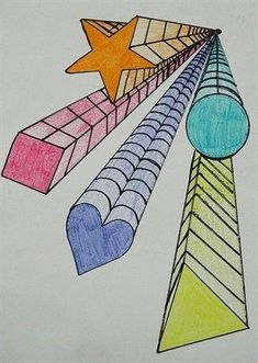 Glitter Jumpsuit Post:4261681501 Classe D'art, 6th Grade Art, Perspective Art, One Point Perspective, Math Art, School Art Projects, Elements Of Art, Art Lesson Plans, Art Classroom