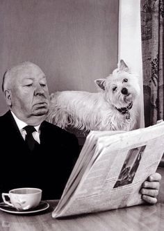 """""""I'm a writer and, therefore, automatically a suspicious character.""""   ― Alfred Hitchcock"""