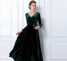 Kadife elbise modelleri 2016