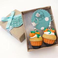 Halloween is almost here!  Order now your pumpkins cupcake earrings