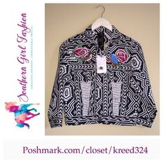 """FREE PEOPLE Jacket Bohemian Bomber Jacket Denim Size XS New With Tags $298.00  Colorful embroidered detailing.  3/4 sleeves. Two front flap pockets and two slit pockets.   Cotton, polyester.    Measurements for Size XS: Length: 21"""" Bust: 33' Bottom Opening: 29.5""""  Sleeve Length: 18.5""""      ❗️ Please - no trades, PP, holds, or Modeling.   ✔️ Reasonable offers considered when submitted using the blue """"offer"""" button.    Bundle 2+ items for a 20% discount!    Stop by my closet for even more…"""