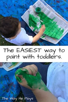 The easiest way to paint with toddlers