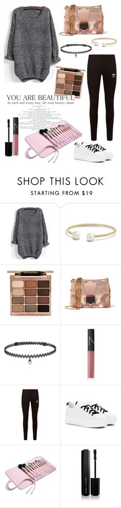 """casual outfit for winter"" by secret-girl02 ❤ liked on Polyvore featuring David Yurman, Stila, Jimmy Choo, BERRICLE, NARS Cosmetics, adidas Originals, Kenzo and Marc Jacobs"