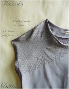 "Lebestiaire ""Fishscales"" handmade and handpainted silk top. copyright © LeBestiaire"