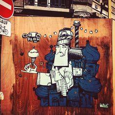 Street art ! 😁👍🏻👾 #streetart #art  #art #paris #france #graffiti #graff…