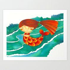 Mermaid Art Print by Gabriela Granados - $17.00