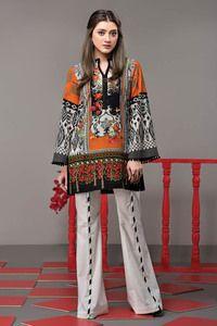 Ethnic Floral Ridge Festive 2017 - Original Online Shopping Store Whatsapp: 00923452355358 Website: www. Simple Pakistani Dresses, Pakistani Fashion Casual, Pakistani Dress Design, Pakistani Outfits, Indian Fashion, Lovely Dresses, Stylish Dresses, Casual Dresses, Stylish Dress Book
