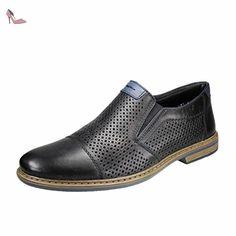 Rieker , Mocassins pour homme noir Schwarz 40 - noir - Schwarz, 43 EU - Chaussures rieker (*Partner-Link)