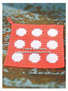 Fröken Elsas virkblogg: Mönster Free Crochet, Knit Crochet, Elsa, Crochet Potholders, Crochet Instructions, Tapestry Crochet, Hot Pads, Crochet Designs, Yarn Crafts