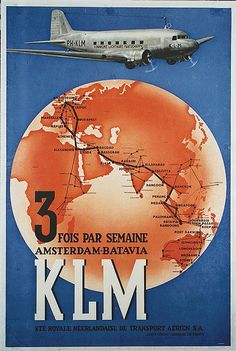 KLM Royal Dutch Airlines route to Dutch East Indies Illustration Avion, Medan, Royal Dutch, Travel Ads, Air Travel, Vintage Travel Posters, Vintage Airline, Airplane Art, Air And Space Museum