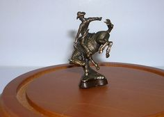 """Jim Pounder, IGMA artisan – """"Buc 'N' Orse 98"""" bronze statue, limited edition of 200"""