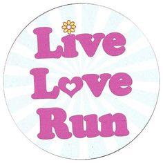Healthy Fit Live Love Run Magnet - x outdoor vinyl automobile magnet. Live, Love, Run. Running Humor, Running Quotes, Running Motivation, Running Workouts, Workout Quotes, Fitness Motivation, Love Run, Live Love, Benefits Of Running