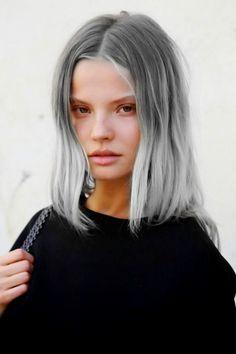 cool Модные серые волосы (50 фото) — Как подобрать оттенок под цвет глаз Читай больше http://avrorra.com/serye-volosy-cvet-foto/