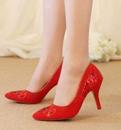 56.00$  Buy now - http://alipxk.worldwells.pw/go.php?t=32780282429 - Red point toes pumps shoes womens lady stiletto thin high heeled lady red dress proms pump shoes TG1010 quick shipping 56.00$