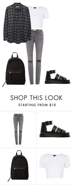 """Untitled #65"" by deaja-xx ❤ liked on Polyvore featuring Dr. Martens, MANGO, Topshop and 6397"