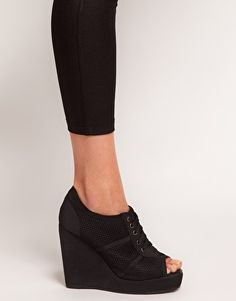Enlarge ASOS TRACK Wedge Shoe Boots