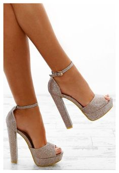 Gold Platform Heels, Platform Block Heels, Gold Heels, Stiletto Heels, Sparkly Heels, Gold Block Heels, Fancy Shoes, Pretty Shoes, Shoes For Prom
