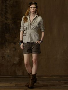 A tailored safari jacket to top off any spring outfit.  sc 1 st  Pinterest & Image result for cute safari outfit | Fashion | Pinterest | Safari ...