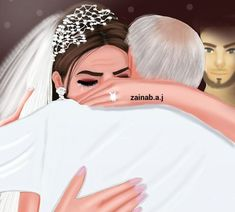 ✨Pinterest:Kubra Yousuf✨ Mother Daughter Art, Mother Art, Cute Couple Art, Cute Couples, Sarra Art, Girly M, Cute Girl Drawing, Baby Clip Art, Girly Drawings