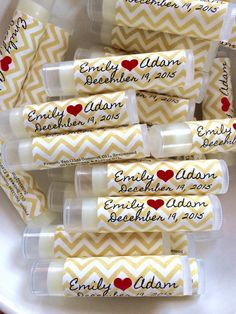 Free Shipping Today 50 Personalized Lip Balms. 21 by SensiblyPosh