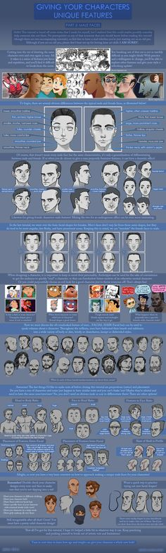 Unique Features Tutorial: Male Faces by ~jeinu on deviantART