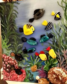 Media content and analysis by Maria Luisa Julca Perez de Soto - Cactus DIY Stone Crafts, Rock Crafts, Cute Crafts, Painted Rocks Craft, Hand Painted Rocks, Seashell Crafts, Beach Crafts, Pebble Painting, Stone Painting