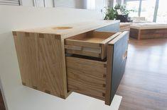 » Sideboard in Esche und Linoleum – Gesellenstück 2017 - Holzwerkstatt