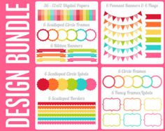 Fruit Punch Design Bundle Digital Clip Art Graphics for Personal or Commercial Use
