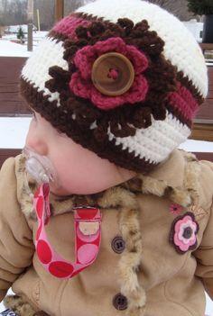 Crochet Baby Beanie Hats Children Kids